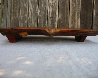 Wood Cutting Board / Serving Tray made from salvaged Texas Mesquite Wood (Can be personalized)