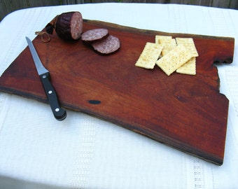 Natural Edge Texas Mesquite Wood Cutting Board/Chopping Block/Serving Tray/Cheese Board - Home Decor