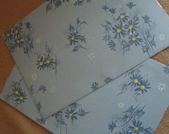Blue Daisies Gift Wrap Paper   All Occasion  Ephemera