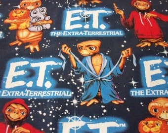 E. T. Fabric Extraterrestrial Being Movie New By The Fat Quarter