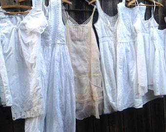 waiting to dye Custom made-to-order bride flower girl white tan prairie boho gypsy lace tan shabby rustic barn wedding bridesmaid dresses