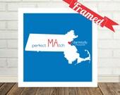 MASSACHUSETTS Map Print Valentines Day Gift Massachusetts Wedding Gift Massachusetts Art State Map Art Custom Valentines Day Gift