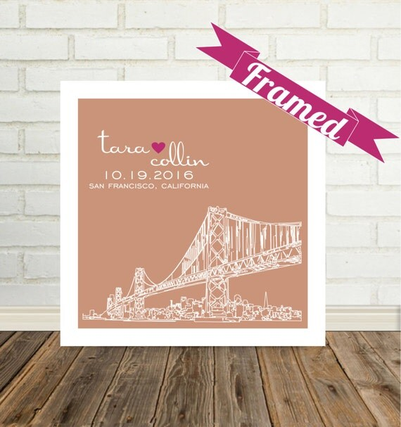 Wedding Gifts For Guests New Zealand : Wedding Day Gift for Bride Wedding Gift Personalized City Skyline ...