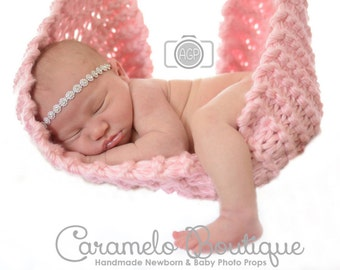 Newborn Knit Hammock Sling Photo Props Available in 25 colors-Neutral Baby Photo Prop-Newborn Hanging Cocoon Newborn Photography Photo Props