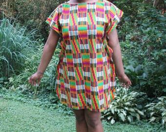 African print Dress, Kente Butterfly Dress, Summer dress