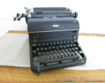 Antique 1950s Royal touch control typewriter
