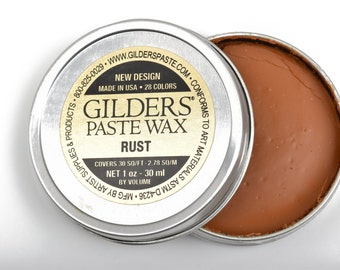 RUST Gilders Paste, Wax Patina Paint,  Wax Gilders Paste, 1 oz, 30ml, pnt0020