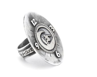 A ring with A Surfer coin medallion-One of kind ring-Homemade jewelry