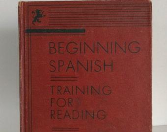 1934 Beginning Spanish Training for Reading Sparkman and Castillo