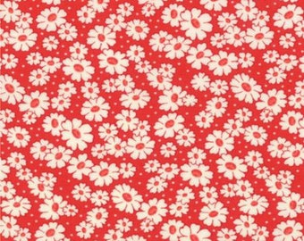 30s Playtime Fav by Chloe's Closet - Simple Daisy - Red - Moda 32783 13