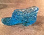 50 % SALE-Blue Glass Slipper, Shoe Collections, Blue Boots, Cinderella Slipper, Blue Shoe, Aqua Shoe, Cobalt Shoe, Turquoise Shoe