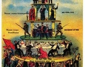 Pyramid of Capitalist System Industrial Worker IWW Offset Poster