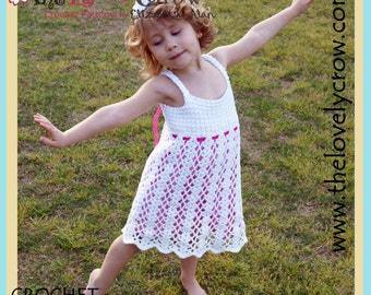 Dress Crochet Pattern Kids BELLA LENA DRESS