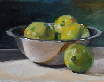Silver Bowl with Limes