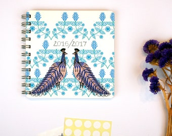 Folk Peacock 2016/2017 Diary // Yearly Planner