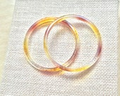 Thin Lucite Spacer Bangles Iced Tea & Apple Juice Set of 2