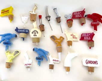 Vintage Bottle Pours/Stoppers- Lot of 20