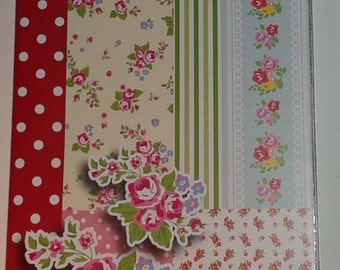 Journal Planner Diary Smash Book Cath Kidston Style Roses Polka Dots Flowers New