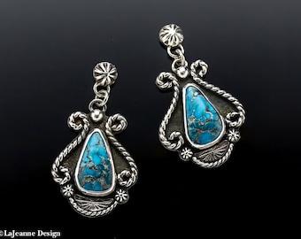 Gaucho - Kingman Turquoise  Sterling Silver Earrings