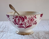 BIG SIZE 1940 footed cafe au lait bowl Cafe Au Lait - Superb French Coffee - French Farmhouse french kitchen, french country farmhouse