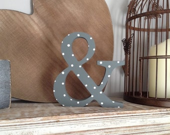 Hand-painted Wooden Letter, Ampersand - Freestanding - Georgia Font - Various sizes, finishes and colours - 30cm