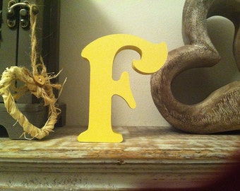 Hand-painted Wooden Letter F - Freestanding - Victorian Font - Various sizes, finishes and colours - 30cm