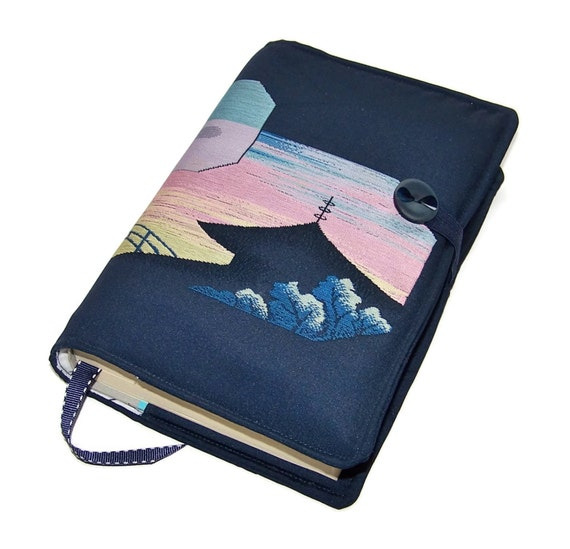 Fabric Book Covers Etsy ~ Fabric book cover handmade bible vintage kimono silk