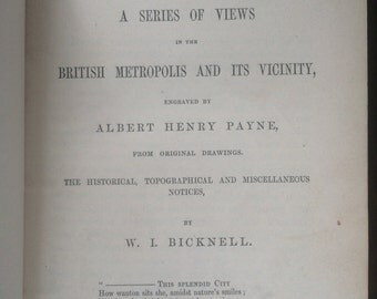 1st Edition Very RARE Payne's Illustrated London 1847