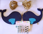 Whale Child's Art Display Hanger, Nautical decor, Kids Artwork Display, Card Display, Art Display Line, Photo Display