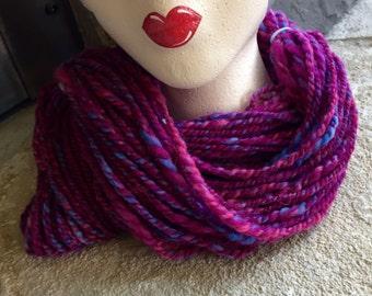 Hand spun Art Yarn - Shetland wool - Cormo wool
