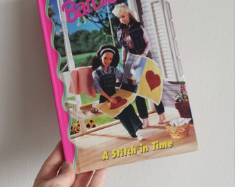 Barbie stitch in time Notebook - Handmade from a book quilt