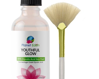 30% Glycolic Acid Skin Peel - Gentle and Effective Exfoliation for Glowing and Soft Skin - Spa Quality