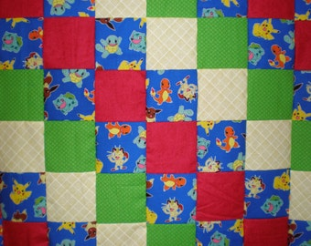 Pokemon Patchwork  Quilt