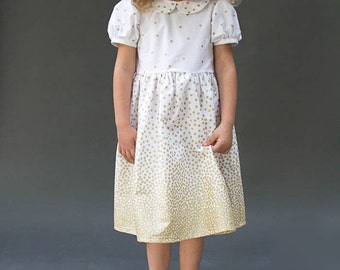 Fiesta Frock Dress PDF Sewing Pattern (Babies, Toddlers, Girls) NB-10