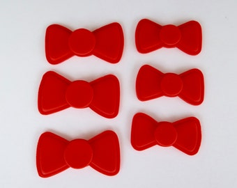 Fondant Bow or Bow Tie Cupcake or Cake Topper Decorations - Perfect for Weddings, Kid's Birthdays and can be used for girl or boy parties