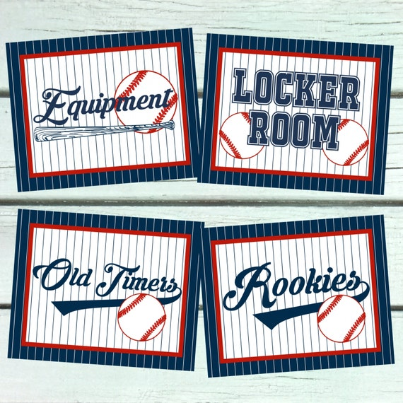 Baseball Party Signs 8x10 Decorations Welcome Sign Hot Dog Bar Nacho Locker Room Equipment Rookies