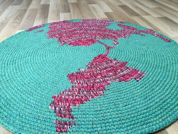 Amazing New Nursery Rug Map Rug Hand