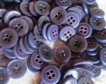 """Lavender Pearlized Buttons Dusty Purple 5/8"""" Plastic 4 Hole Bulk Lot 195 grams"""
