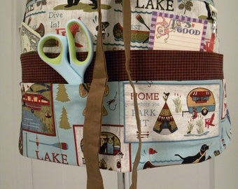 Teacher Apron-Crafter Vendor Utility Apron-Lake Life