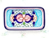 Talavera Soap Dish - Ceramic Colorful Trinket Tray - Boho Home Decor - Arte Cruz Talavera