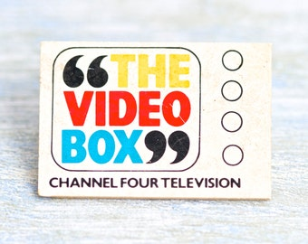 Television Badge - The Video Box Lapel Pin - TV - Channel Four