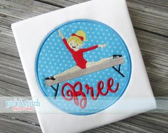 Gymnastics Gymnast Applique Design Machine Embroidery INSTANT DOWNLOAD