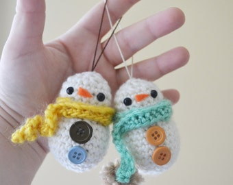 Frosty Baby the Snowman Ornament Christmas Holiday Winter MADE TO ORDER