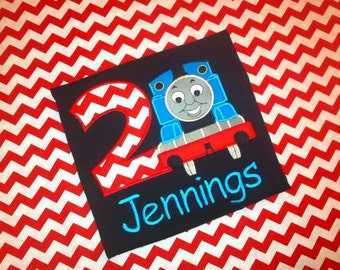 Thomas the Train applique shirt