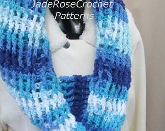 Crochet Scarf Pattern, Crochet Cowl Pattern, Crochet Infinity Scarf Pattern, PDF239