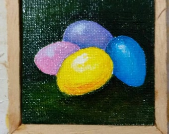 Hand Painted-- Easter Eggs Painting