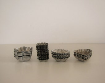 Vintage Aluminum Candy / Jello / Tart Molds - set of 45+