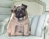 Pug Stuffed Animal - Dog pillow - front only