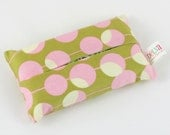 Pocket Tissue Cover, Travel Size Kleenex Pack Cover, Midwest Modern Martini Blush, Gifts under 10, READY TO SHIP