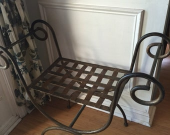 Hand forged iron stool. Fig House Vintage interior design